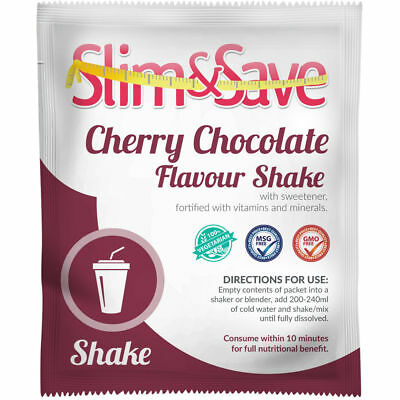 Slim And Save® VLCD/TFR Diet Meal Replacement Cherry Chocolate Shake NE-1CCHK