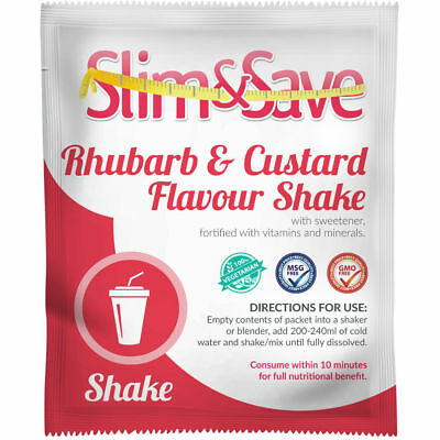 Slim And Save® VLCD/TFR Diet Meal Replacement Rhubarb & Custard Shake - NE-1RHCS