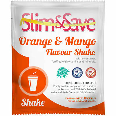 Slim And Save ® VLCD / TFR Diet Meal Replacement Orange & Mango Shake - NE-ORMG