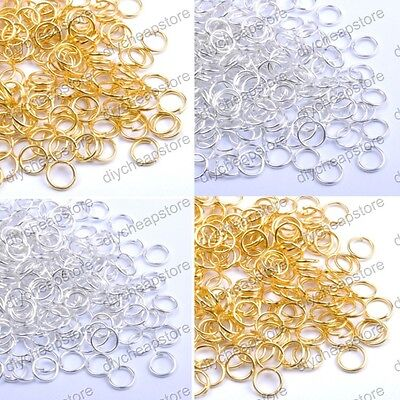 Gold & SILVER PLATED Metal JUMP RINGS! 4MM 5MM 6MM 7MM 8MM 9MM 10MM