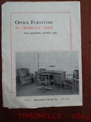 1936 Remington Rand Marlan Line of Office Furniture Catalog Brochure Vintage ORG