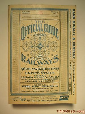 1959 Official Guide Of Railways Steam Navigation Lines of United States July