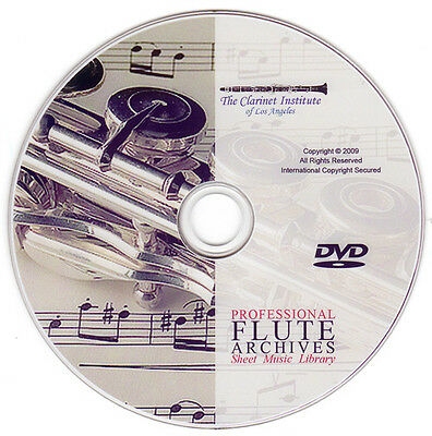 Huge PROFESSIONAL FLUTE SHEET MUSIC Vol. 1 Archive DVD PDF