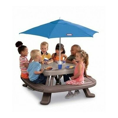 Little Tikes Fold N Store Picnic Table With Market Umbrella Outdoor