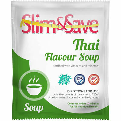 Slim And Save ® VLCD/TFR Diet Meal Replacement Thai Soup 155 Cals - NE-1THSP