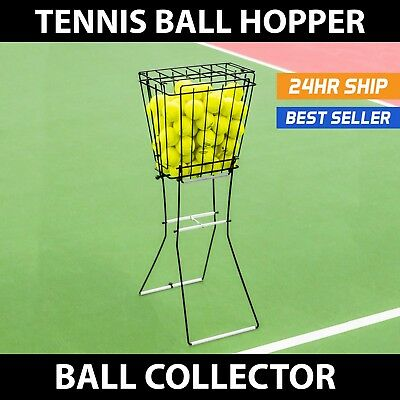 Tennis Ball Training PORTABLE PICK UP HOPPER **HIGH QUALITY STEEL CAGE BASKET**