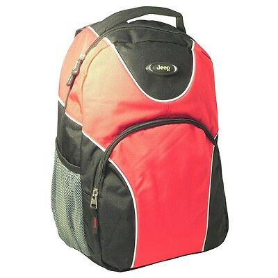 Jeep Venture 18 17.3 Inch Laptop Travel Large Backpack Rucksack Luggage Bag Red