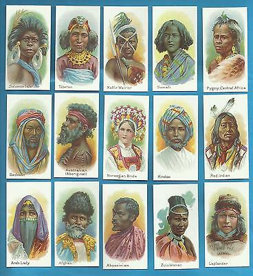 Taddy cigarette cards - NATIVES OF THE WORLD - Full mint condition set.