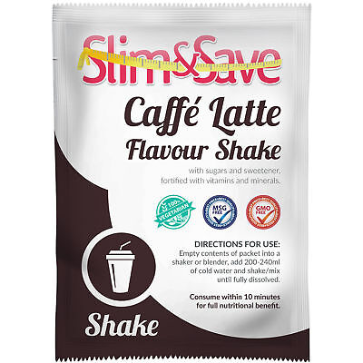 Slim And Save ® VLCD Diet Meal Replacement Caffe Latte Shake hot/cold  -NE-1CFLT