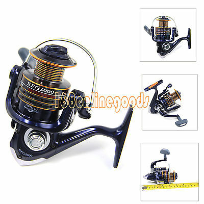 NEW 10+1 BB Ball Bearings Left/Right Handle Fishing Spinning Reel 5.2:1 3000 UK