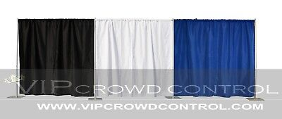 Pipe & Drape / Backdrop / Photobooth Kit in Premier Fabric, VIP Crowd Control