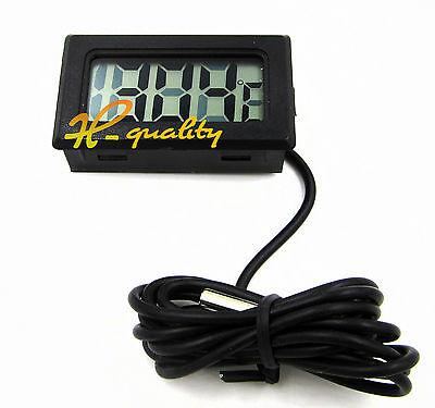 2pcs BLACK  LCD DIGITAL THERMOMETER FOR FISH TANK