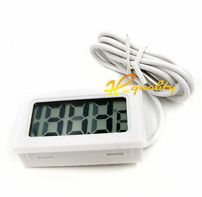 5PCS White AQUARIUM TEMPERATURE GAUGE LCD DIGITAL THERMOMETER FOR FISH TANK