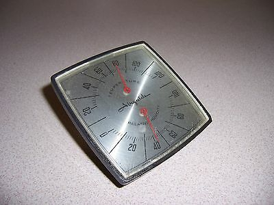 Vtg Retro Airguide Desk Wedge Thermometer Relative Humidity Gauge