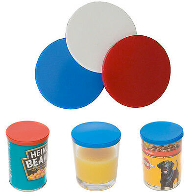 3 Can Tin Cover Plastic Lid Caps Pet Food Fresh Top Covers Storage Reusable Caps
