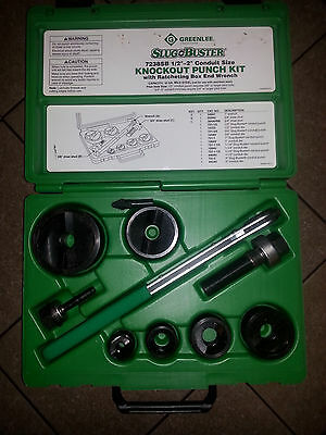 "1/2""-2"" Greenlee Slug Buster Knockout Punch Set"