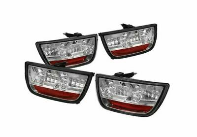 4 Piece IPCW LEDT-350XC Crystal Clear LED Tail Lamp