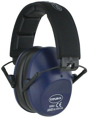 Titus™ Low Profile Ear Muffs w/ Case 34 NRR Shooting Range Hearing Protection 16