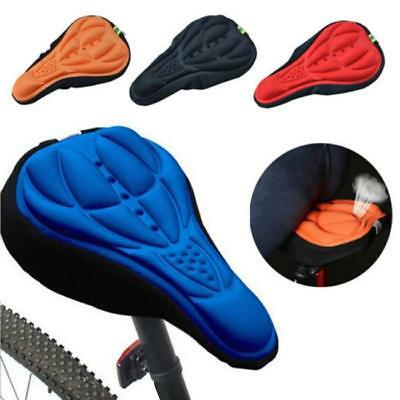 Cycling Bicycle Bike Soft Cushion 3D Gel Silicone Seat Pad Saddle Cover Case JJ