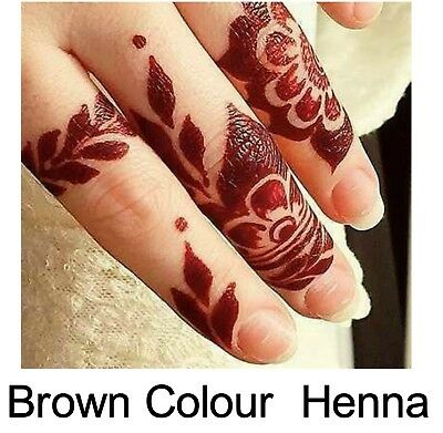6 X Fresh Quality Chemical Free Full Body Art Henna Temporary Tattoo Cones