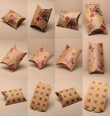 Patterned Card Pillow Pack Boxes, Flat Pack : Wholesale, Cheapest On Ebay