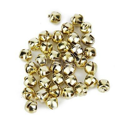 100 Pcs Gold Plated Jingle Bells Loose Beads Charms DIY Jewelry Making 6mm
