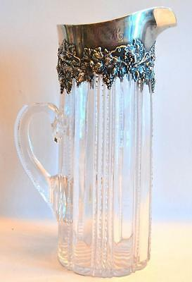 Crystal and Silver Gorham Water Pitcher