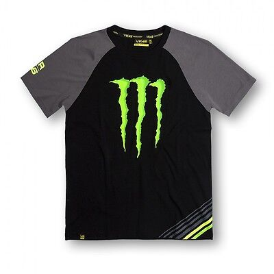 New Official Valentino Rossi VR46 Monster No.46 T-Shirt  - MOMTS 147404