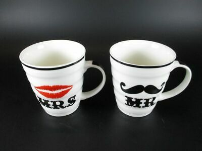 2 Kaffeetassen Mr. & Mrs. Mister Misses,Pärchen Tassen Coffee Mug,Neu