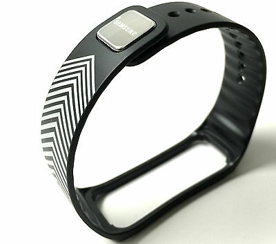 """Samsung Galaxy Gear Fit Replacement Band """"Limited Edition"""" Black Silver Retail"""