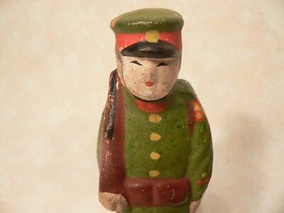 Japanese Collectible Hakata Doll Features Sentry With Rifle Standing #11