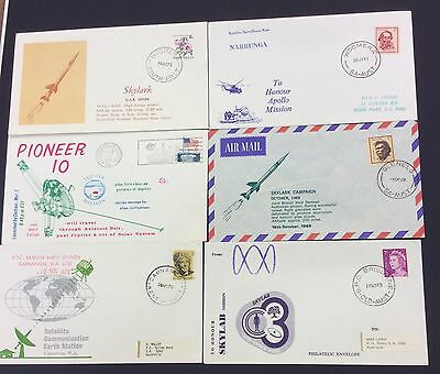 1969-75 selyn of 10 different space/rocket covers - pioneer 10 , Apollo etc