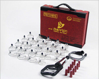 19-Cups Cupping Vacuum Massage Theraphy Set Acupuncture Diet Slimming Made Korea