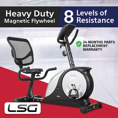 Free Postage Recumbent Magnetic Exercise Bike Lifespan 200 KG Max User Weight