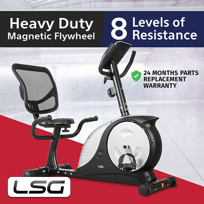 Recumbent Magnetic Exercise Bike Home Gym Lifespan 200 KG Max User Weight