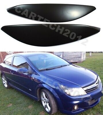 Vauxhall ASTRA H  EYEBROWS  ABS plastic 04-09, headlamps spoiler, tuning