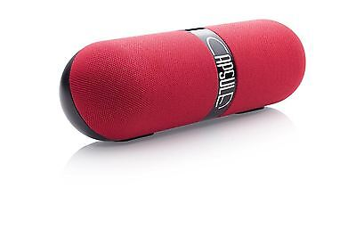 Bitmore Capsule 6 W Portable Stereo Wireless Bluetooth Speaker with Mic - Red