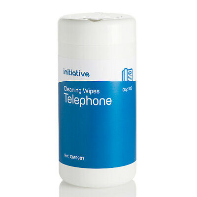 300 x Telephone Mobile Phone Headset Cleaning Wipes Anti Bacterial Non Alcoholic