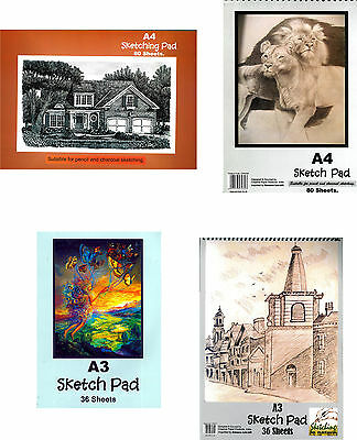 A3/A4 Size Artist Sketching Pad/Premium Quality Paper/Both Pencil & Charcoal