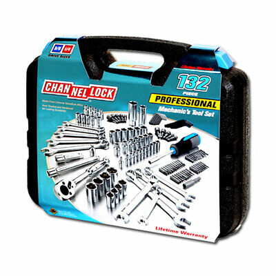 Channellock 39067 Professional Mechanic Socket Tool Set with Case, 132-Pieces