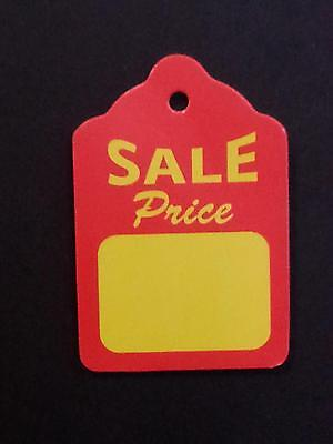 1000 Large Sale Price Tags No Strings Red/Yellow