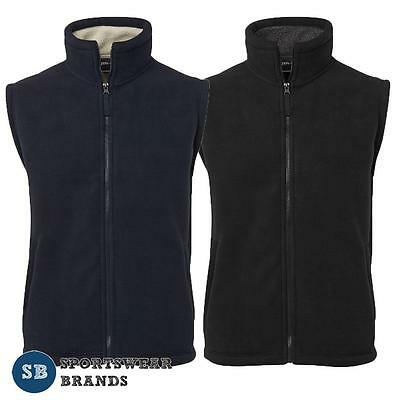 Mens Shepherd Vest Winter Contrast Fleece Lining Black Navy Work Casual Warm 3SV