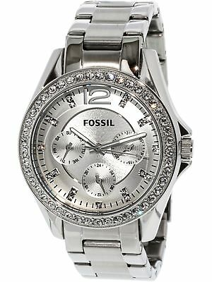 Fossil Women's Riley ES3202 Silver Stainless-Steel Analog Quartz Fashion Watch