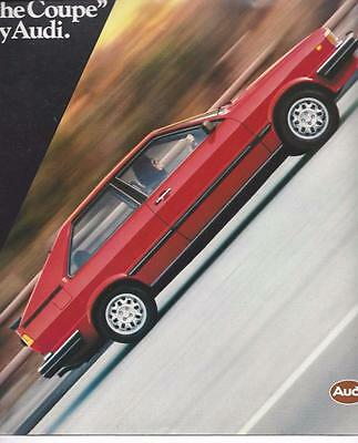 """Audi - 1981 Audi """"The Coupe""""  8 Page Pamphlet or Brochure"""