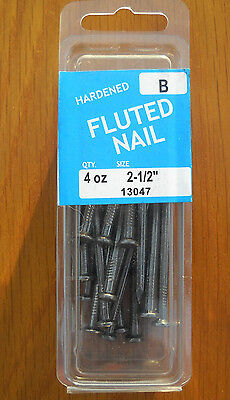 """Hardened Fluted Nails 2-1/2"""" Package (4 Ounces) 13047"""