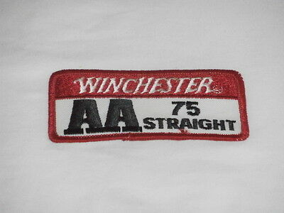 Winchester AA 75  Trap Skeet Clay Shooting Straight patch Shotgun Vintage