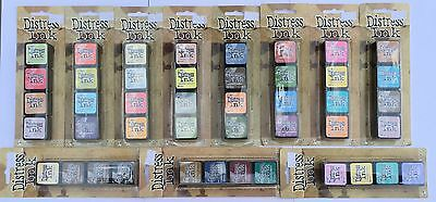 Tim Holtz Distress Mini Ink Pads By Ranger Choice Of Distress Ink Pad Colours!
