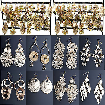 Newest Wholesale Jewelry 24pcs Mixed Lots Gold Plated Fashion Dangling Earrings