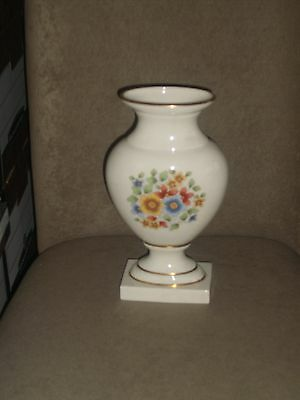 Very Rare Vintage Lenox Empire Vase With Gold Trim Teresa Pattern Old Blue Mark