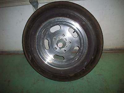 Vintage 1960's Ansen Sprint 5 X 5.5 Aluminum Slotted Wheel With Tire Gasser